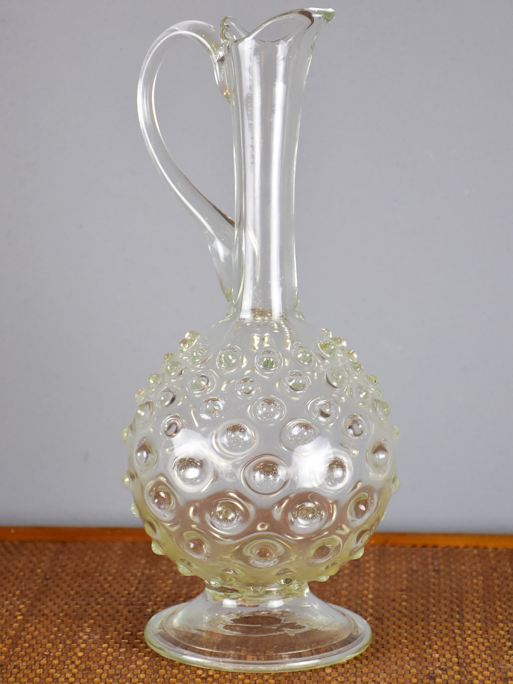 Vintage hand blown glass pitcher