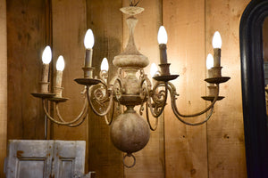 Large French chandelier - bronze and copper
