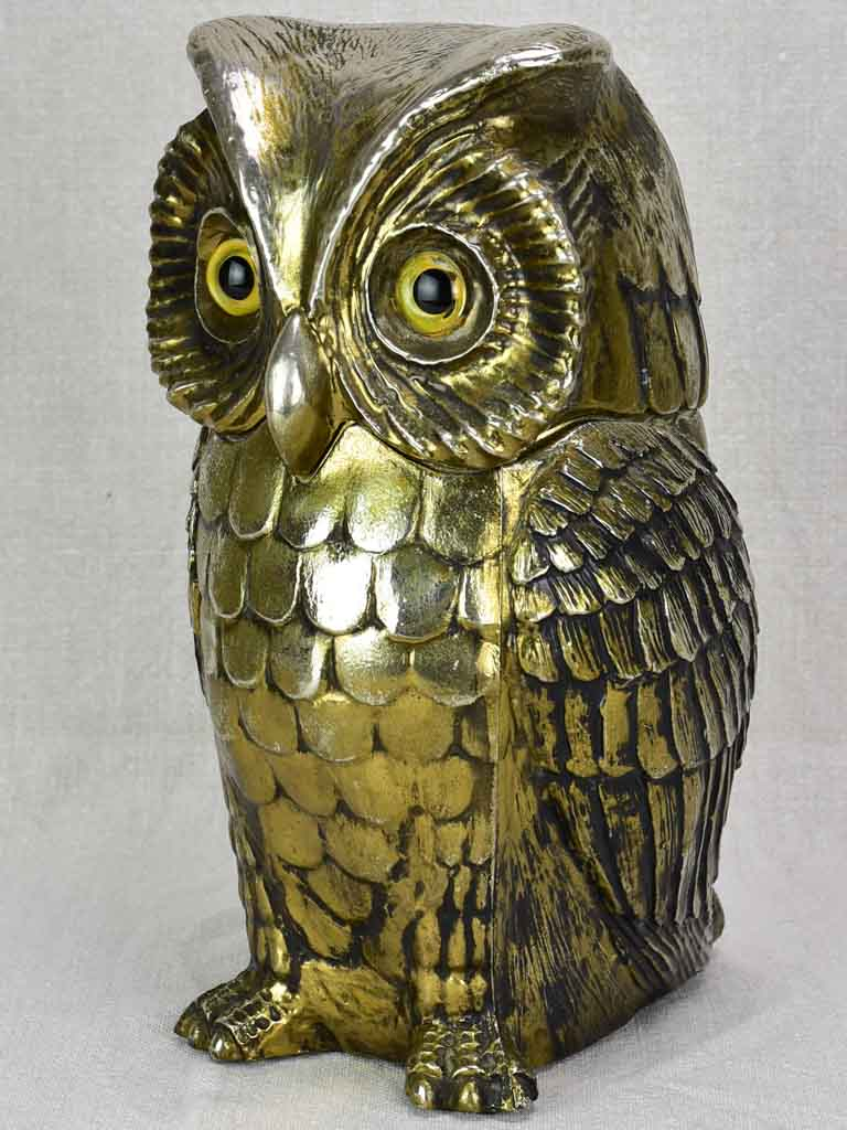 "Vintage FreddoTherm owl ice bucket 11"" high"