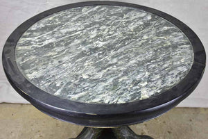 Restoration period round center table with dolphin base 32""