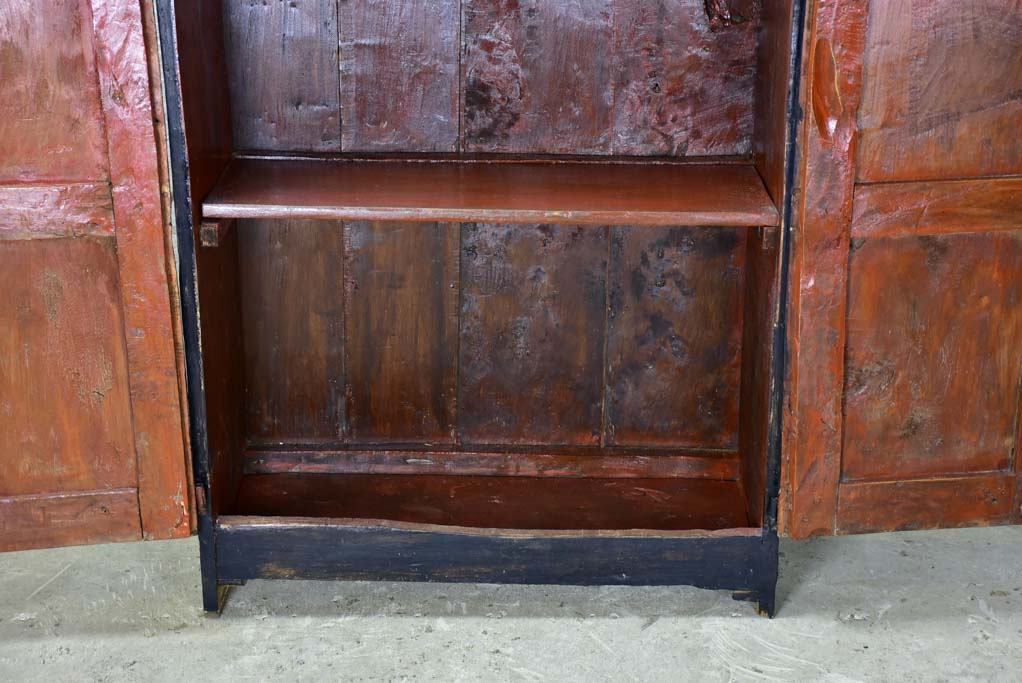 RESERVED KC Petite 17th Century Spanish armoire with black patina 38¼""
