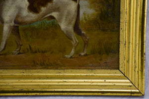 "19th Century English painting of a hunting hound - anonymous 16½"" x 12½"""