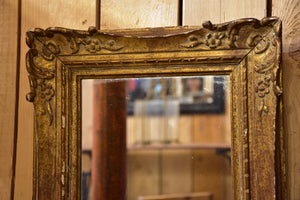 Small antique French mirror with gilded frame
