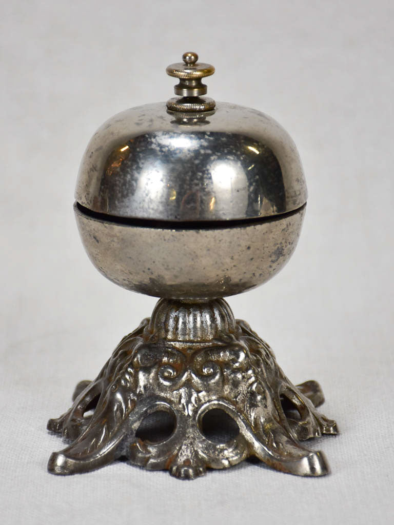 Antique French counter bell from a hotel or grand home - 1900's