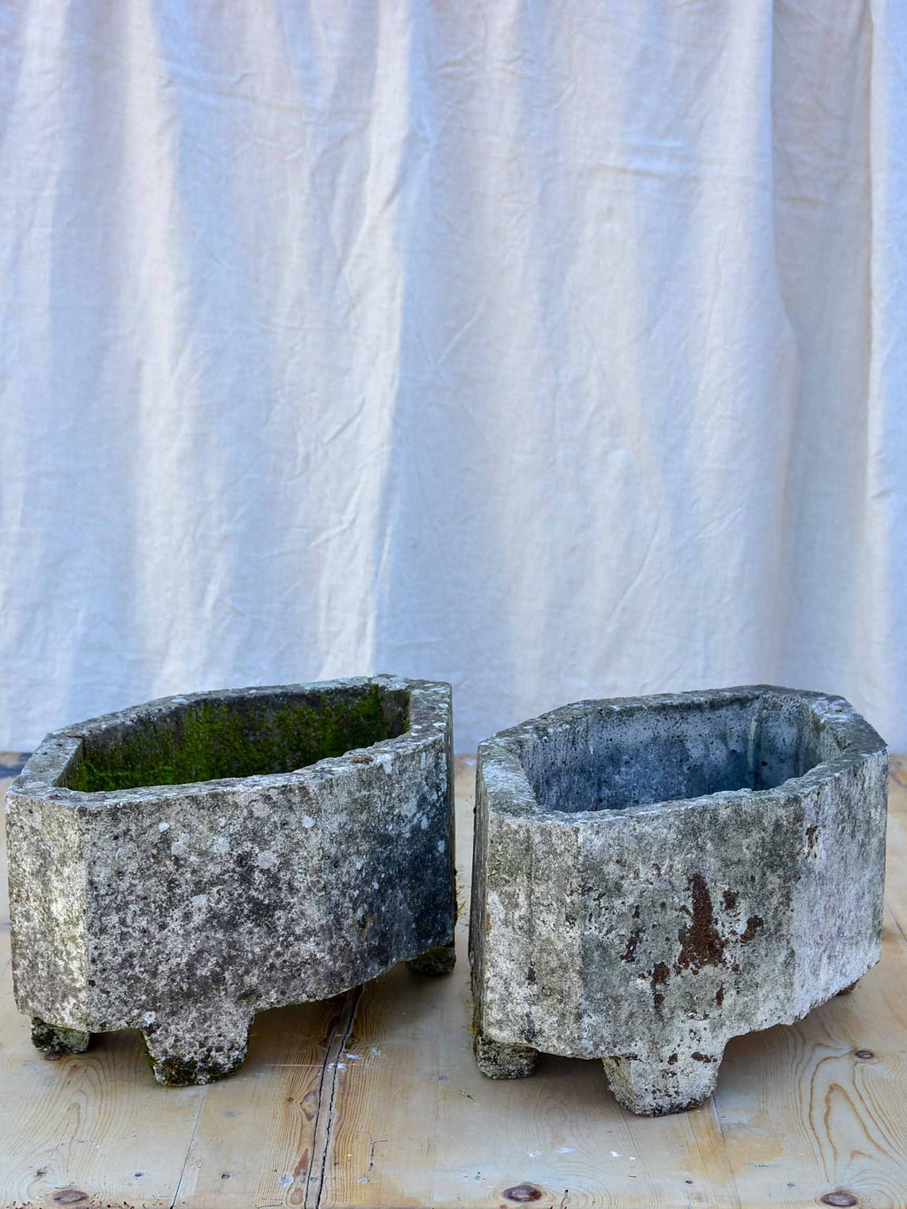 Pair of antique French garden planters