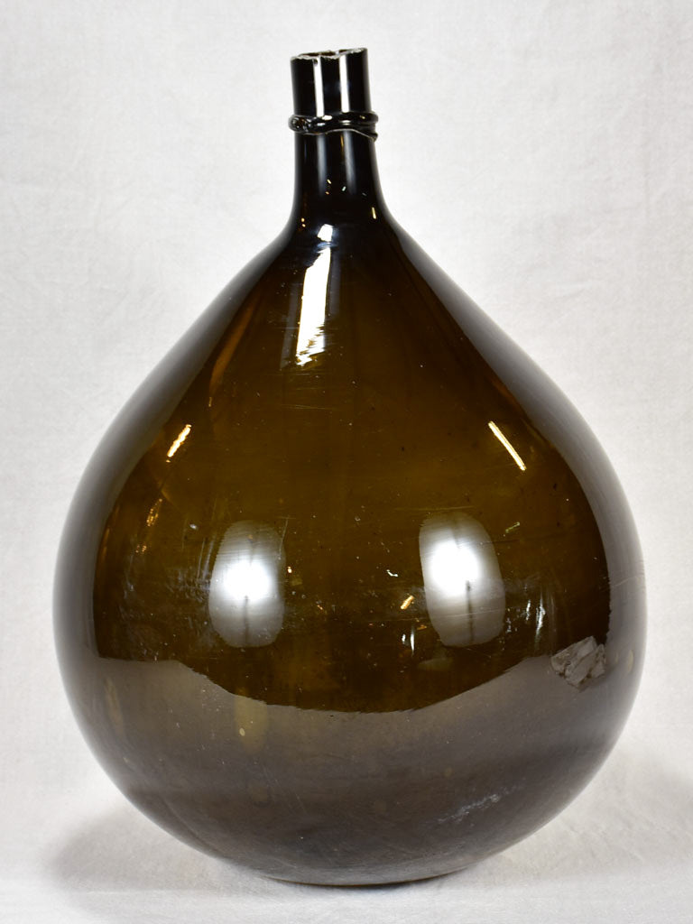 Large 19th century French demijohn signed by glass maker 25½""