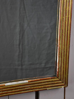 "Late 18th Century Louis XVI mirror with gilt reeded frame 30¼"" x 35"""
