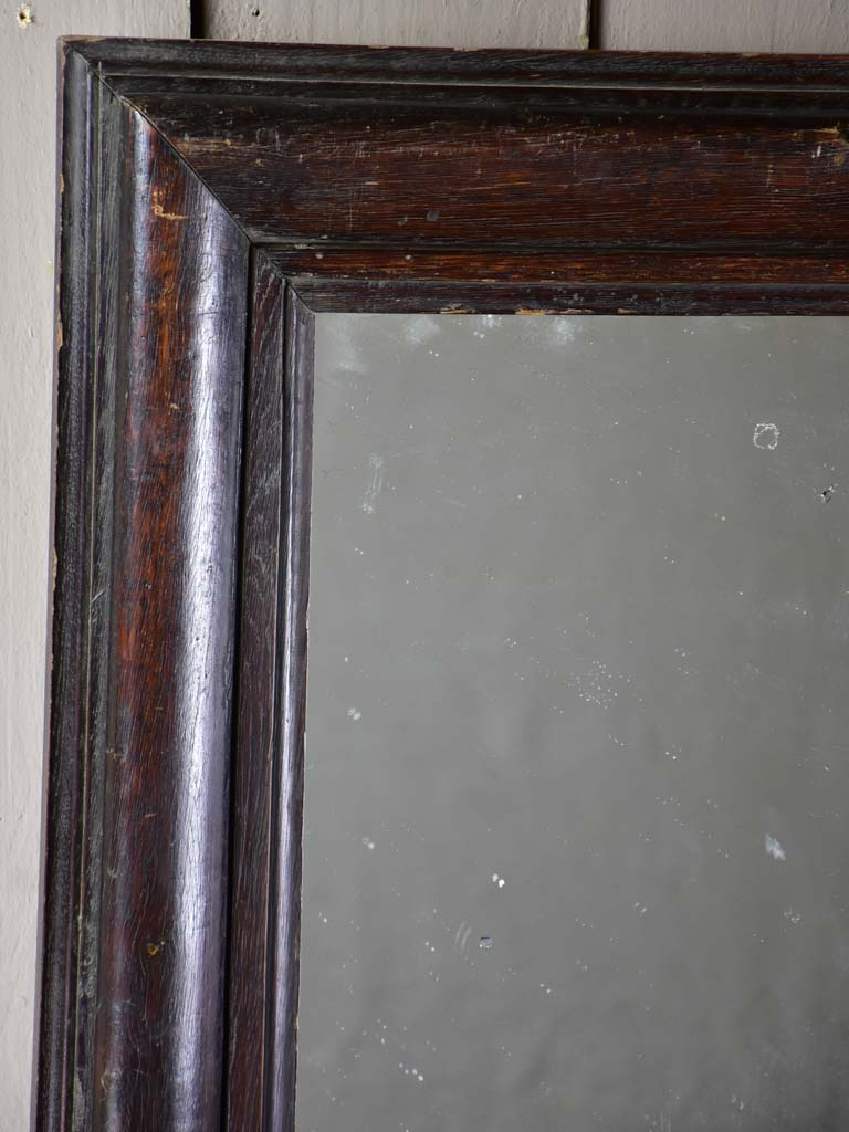 "Late 19th Century French mirror with dark timber frame 22¾"" x 28¼"""
