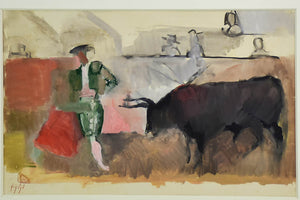 Matador with bull - Manolo Ruiz Pipo (1929-1998)