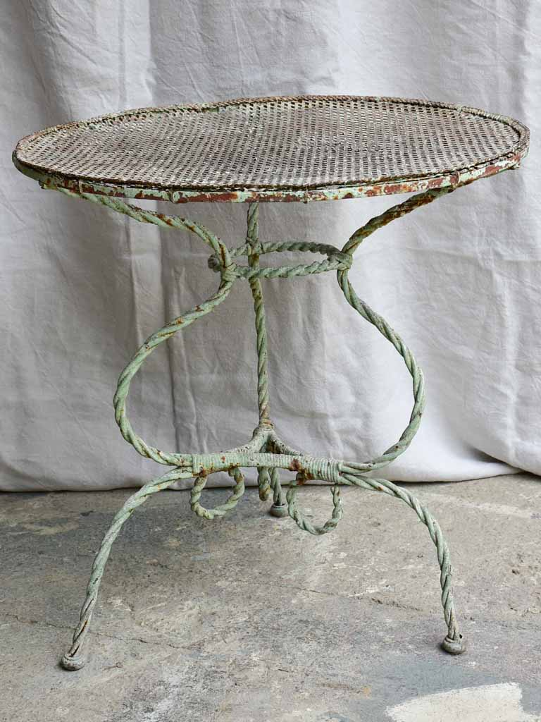 Pretty antique French garden table