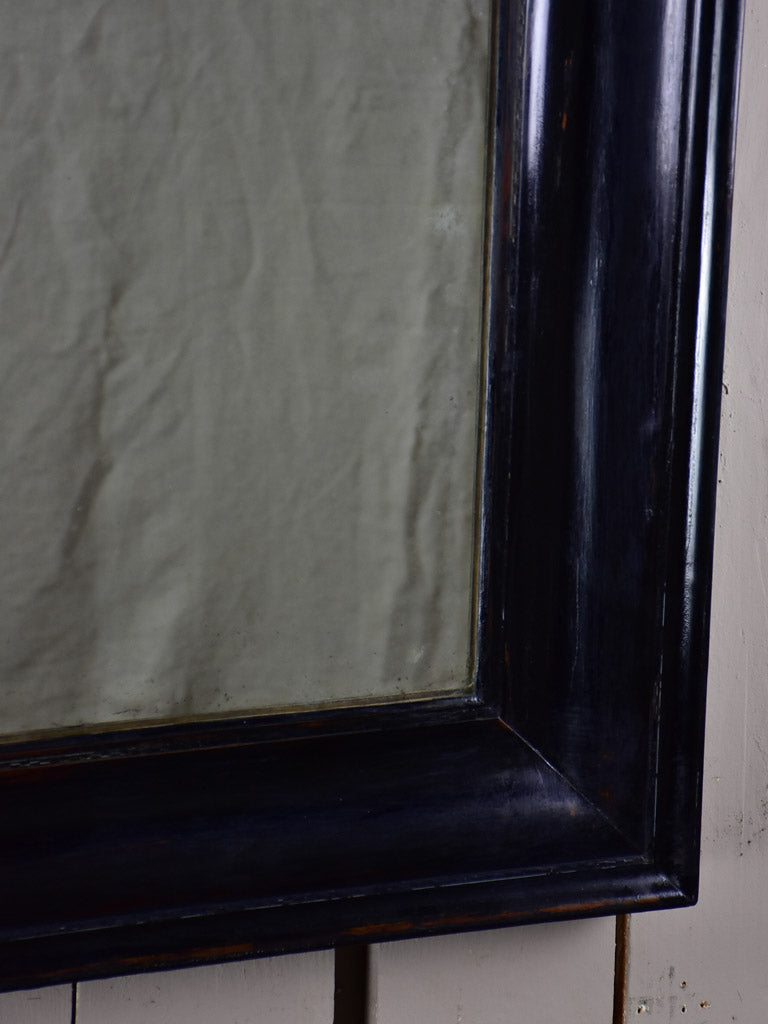 "Late 19th Century French mirror with black painted frame 31"" x 37¾"""