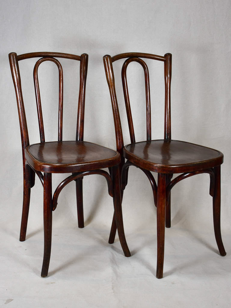 Pair of Fischel bistro chairs - 1900