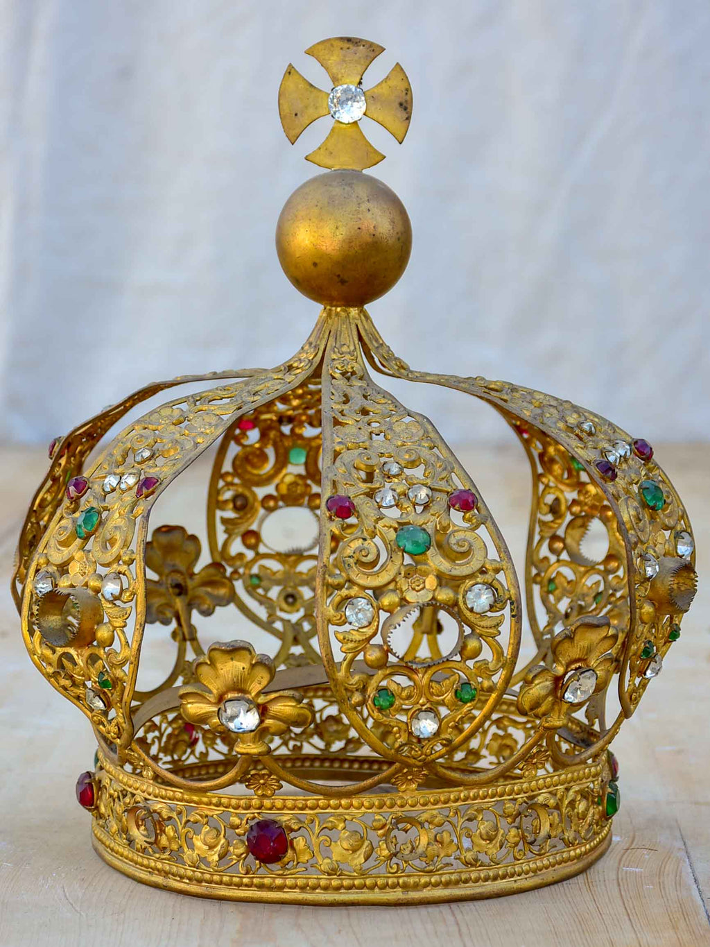Antique French saint's crown from a church