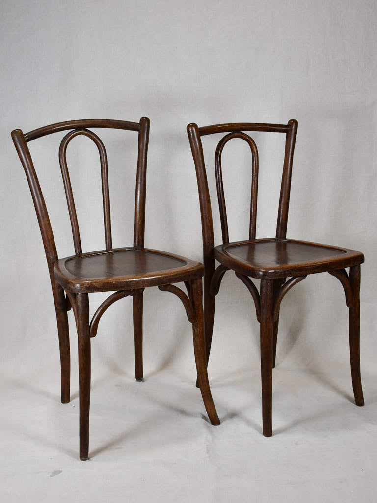 Pair of bentwood bistro chairs - 1900