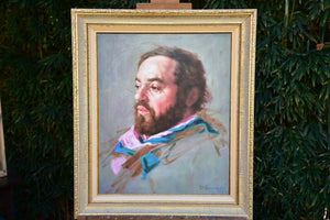 Contemporary French painting of Luciano Pavarotti by Jean-Baptiste Fournier (1959 -)