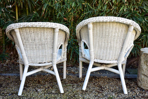 French childrens rattan armchair