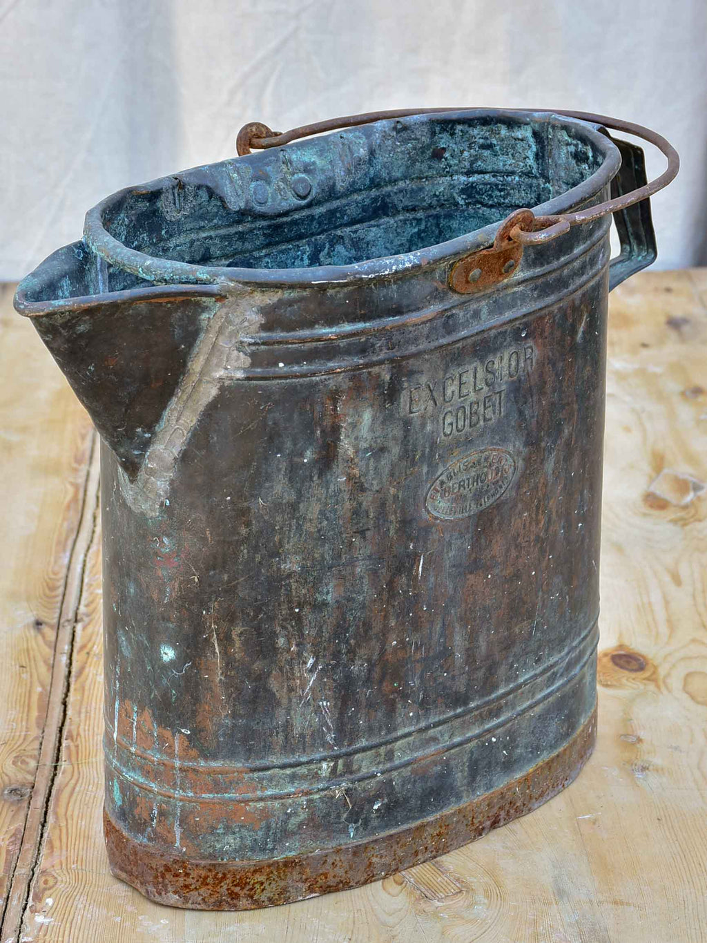 Antique French copper pouring can