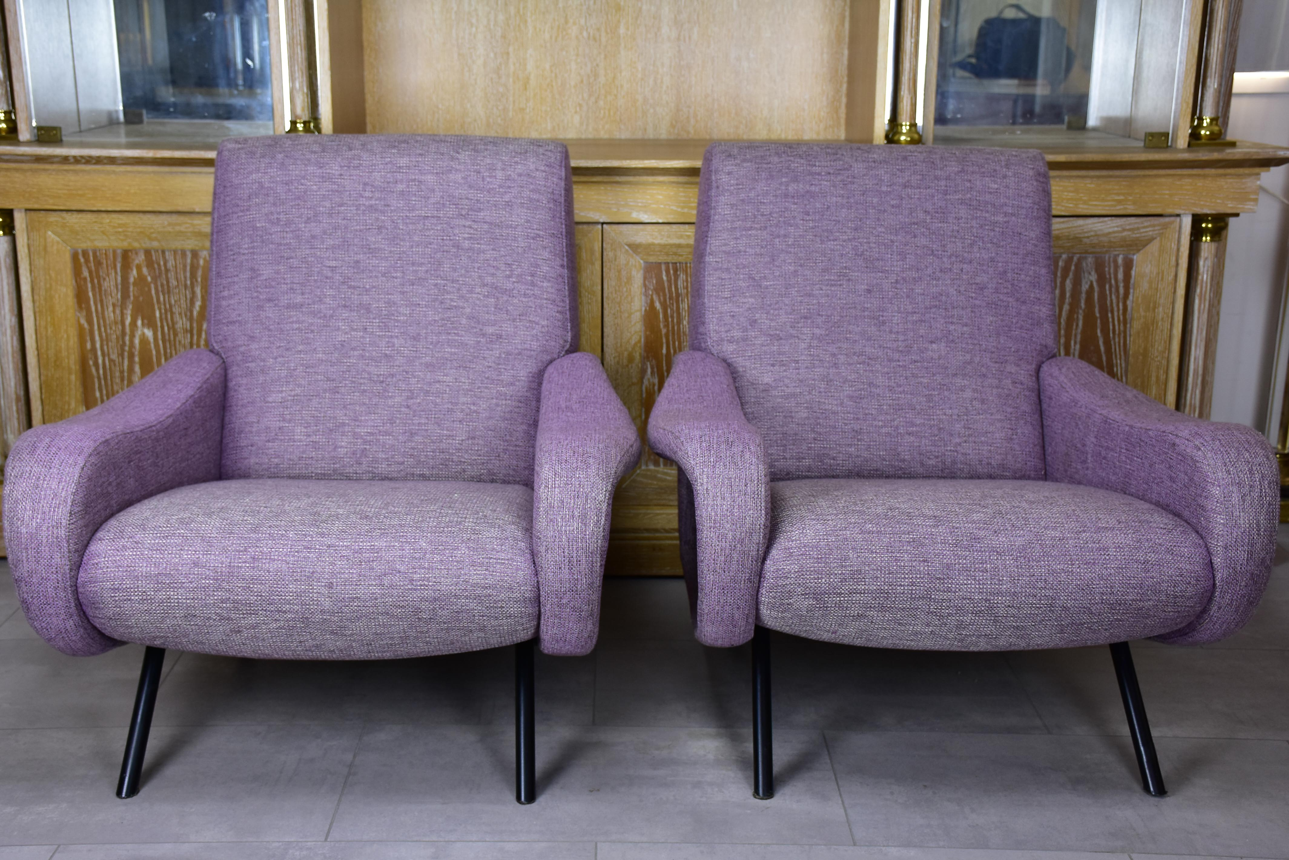 Pair of armchairs in the style of Zanuso