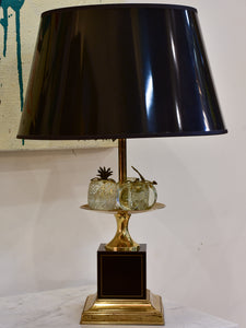 Black Maison Charles lamp with crystal fruits