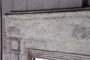 "Late 18th Century Directoire trumeau mirror with grey patina 42½"" x 43"""