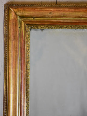 "Early 19th Century French gilt mirror 38½"" x  43¼"""