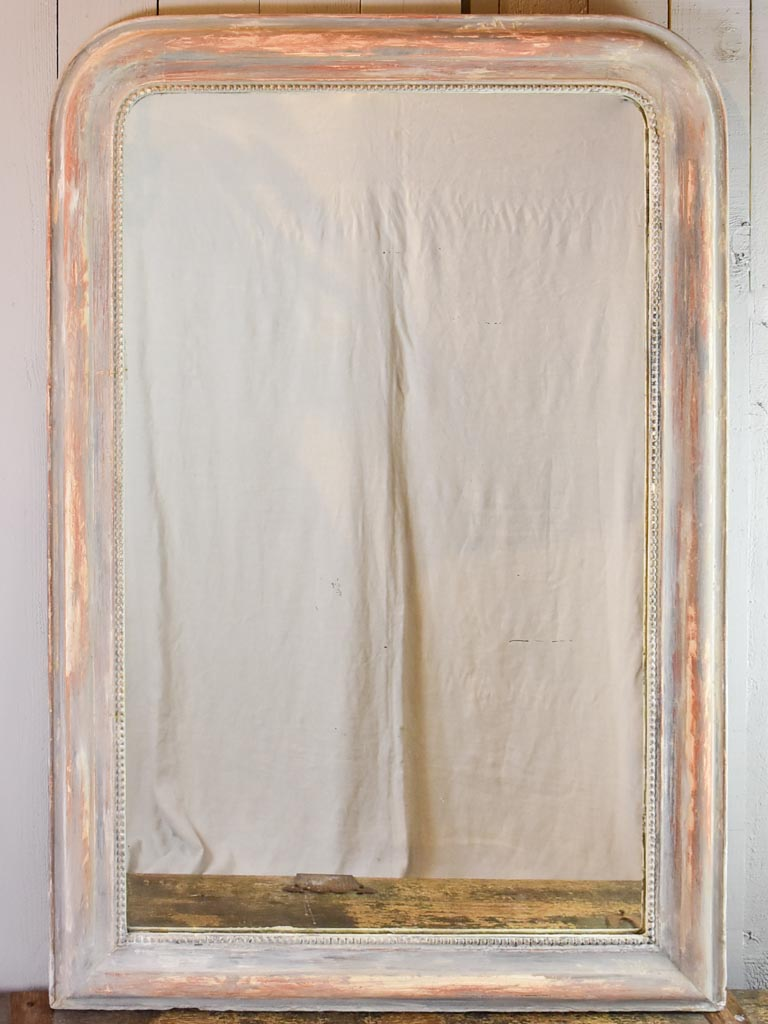 "Very large 19th Century Louis Philippe mirror with painted frame 54¾"" x 37"""