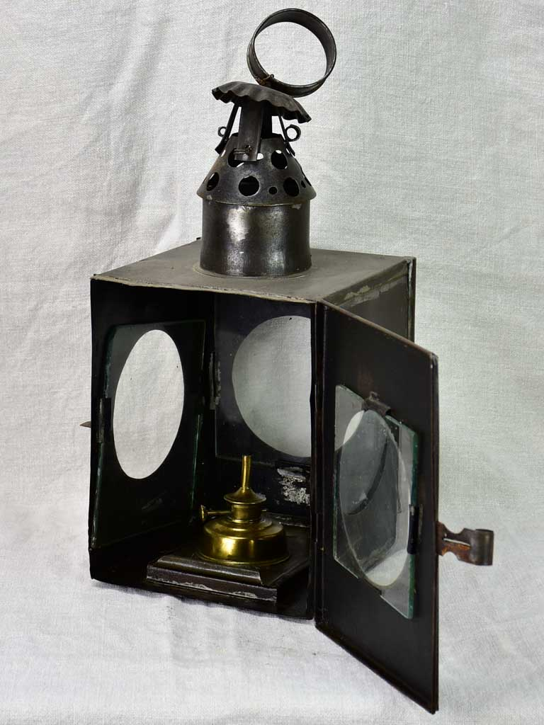 Late 19th Century French lantern - black