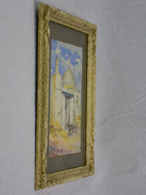 Early 20th Century watercolor - Mosque, mule and chariot 18 x 14¼""""