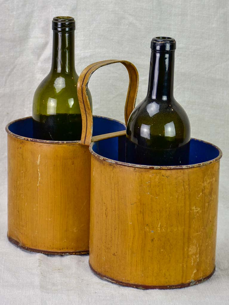 Early 20th Century French bottle cooler with handle