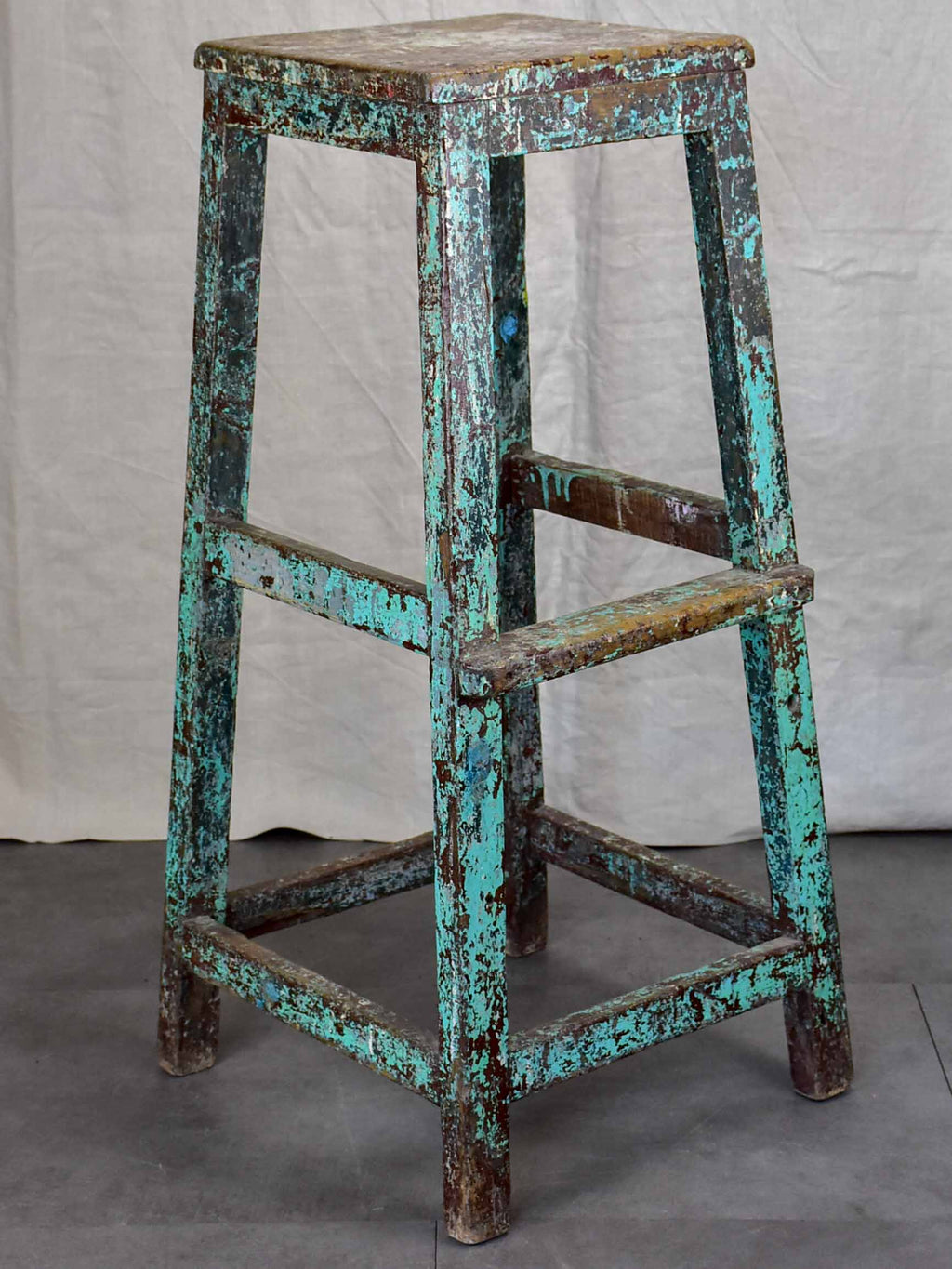 Antique French sculptor's table / high stool - 2 of 3