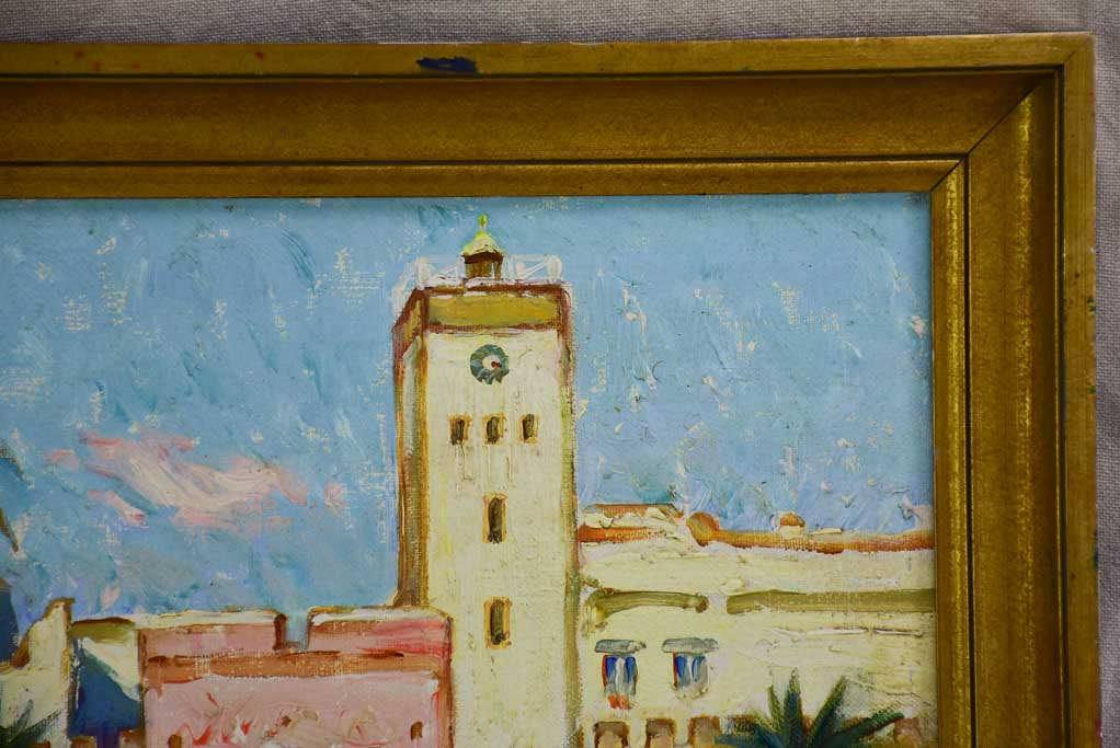 "20th century oil on canvas - Essaouira Morocco 19¾"" x 16½"""