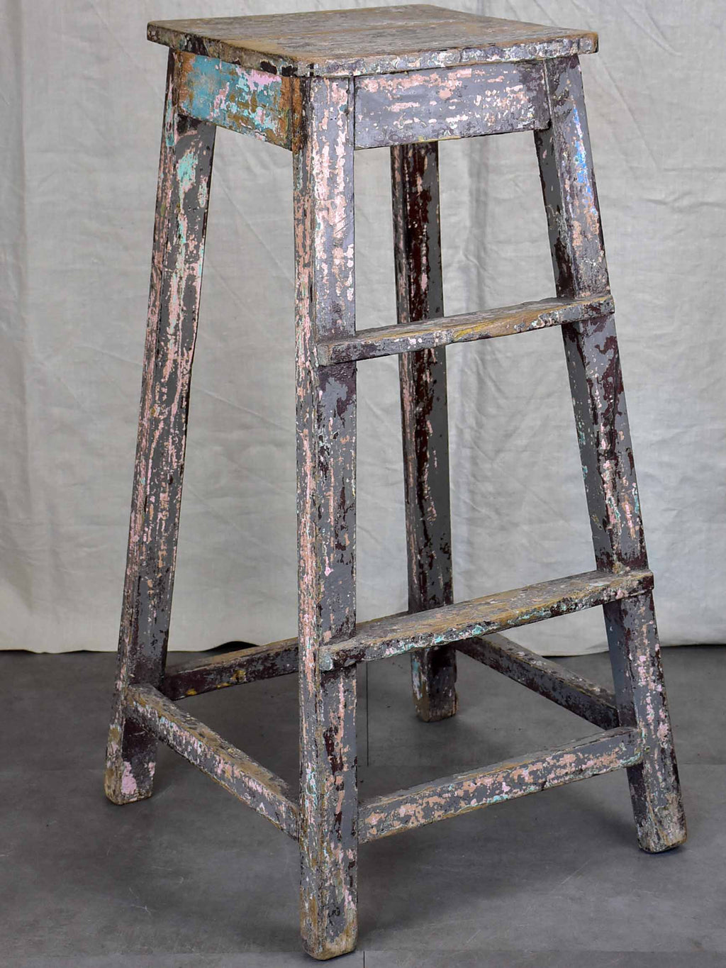 Antique French sculptor's table / high stool - 2 of 2