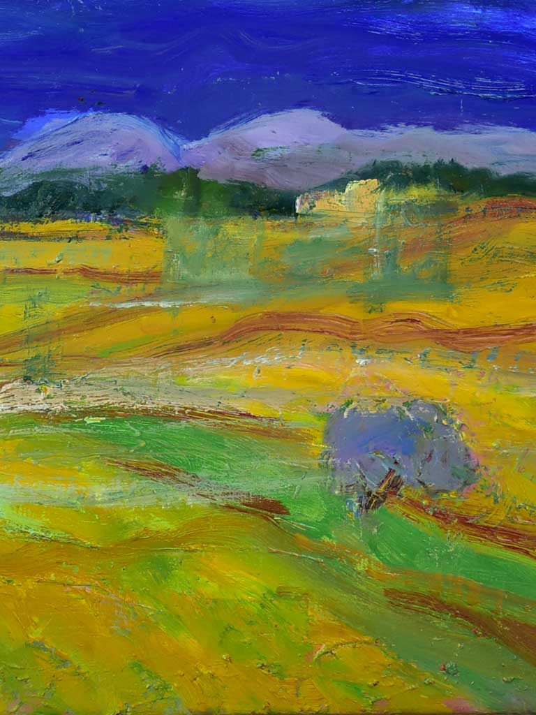 "20th Century oil on canvas of the Provence countryside - Anna Costa 14½"" x 17¾"""