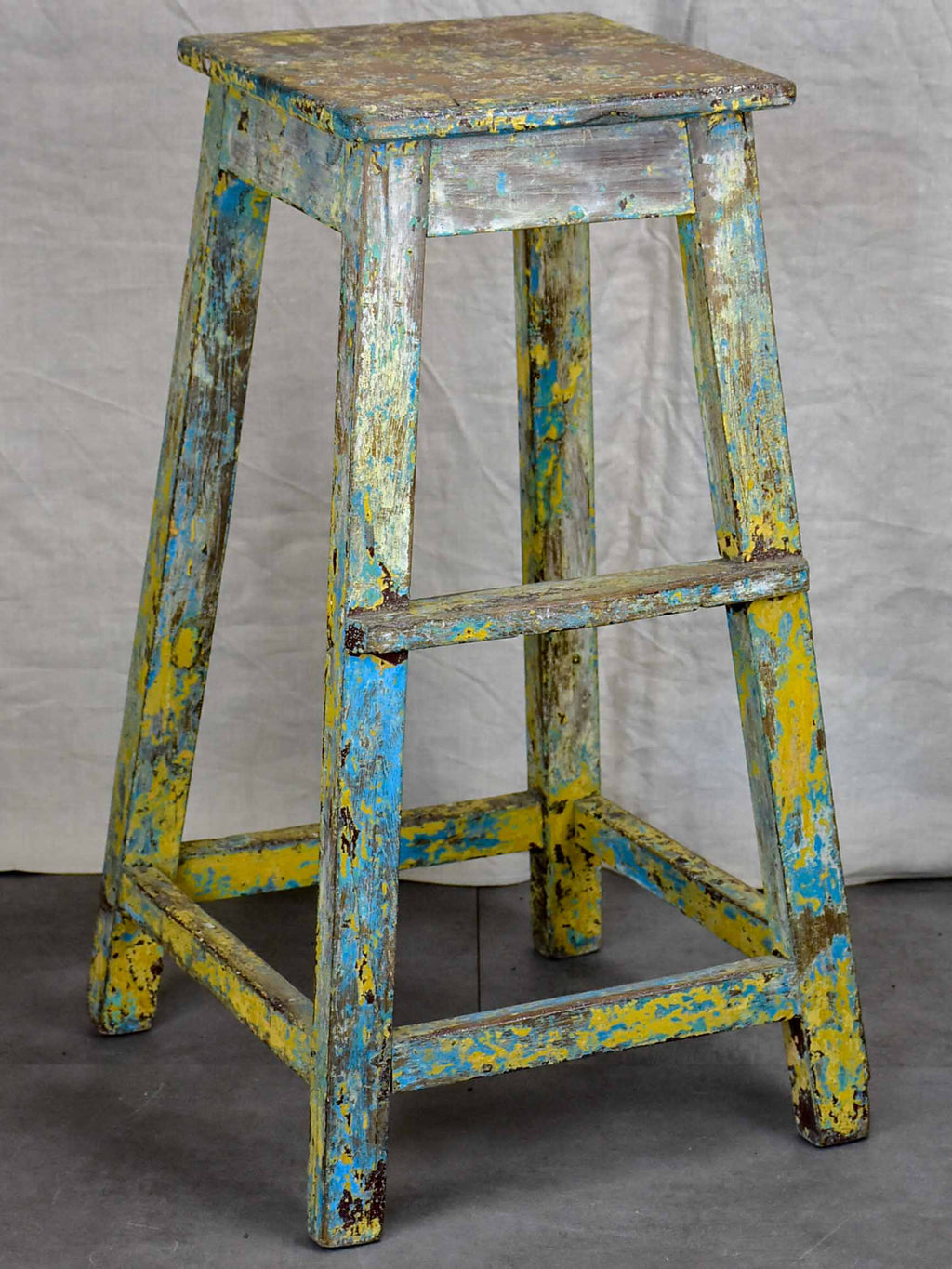 Antique French sculptor's table / high stool - 1 of 2