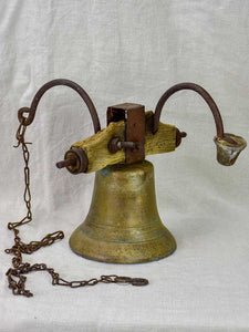 Antique French bell with chain