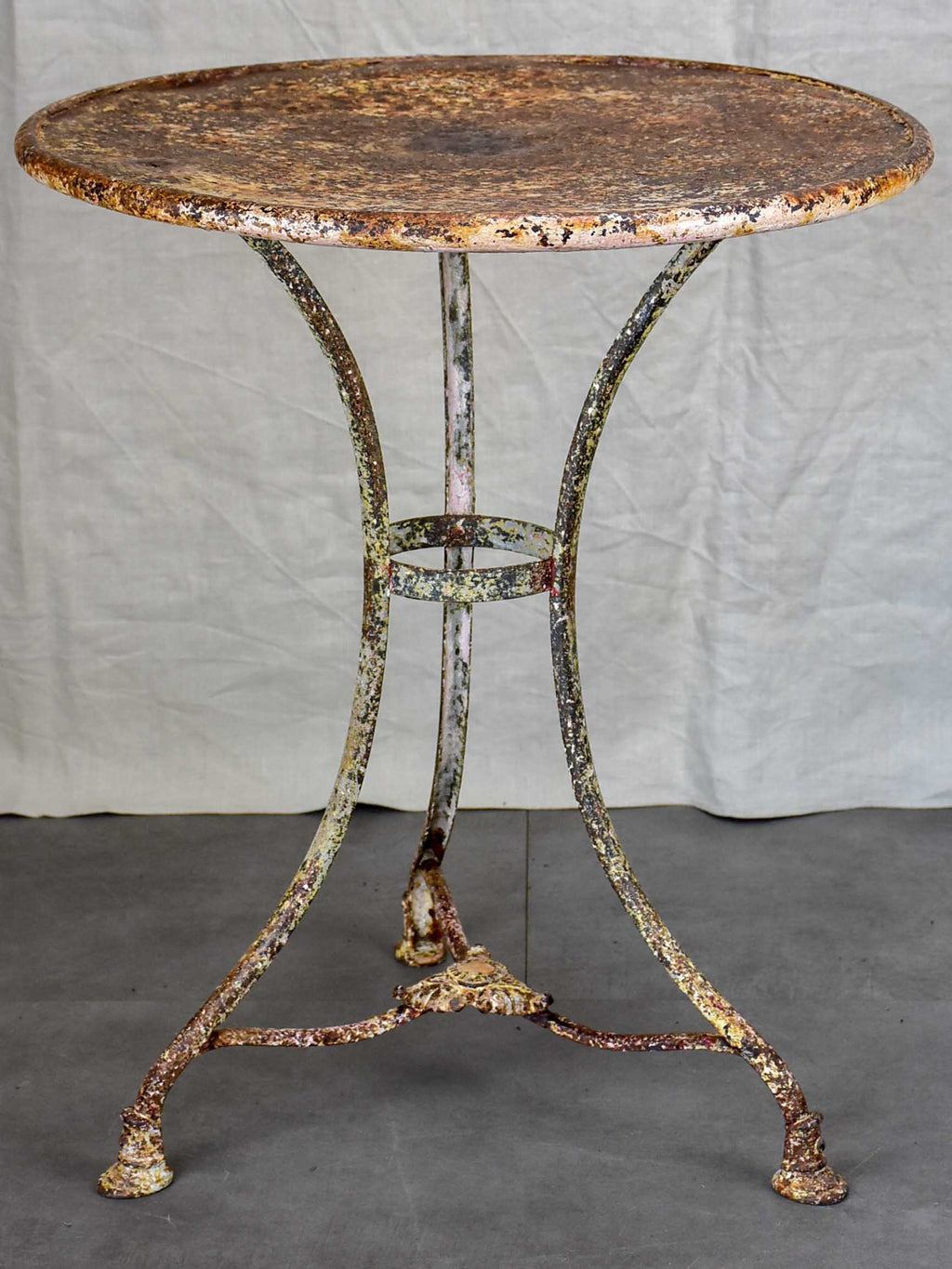 Original 19th Century Arras garden table with hoof feet