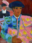 "20th Century oil on canvas - Matador - Anna Costa 15"" x 18"""