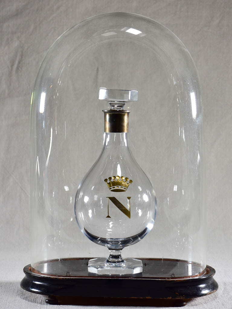 Napoleon III carafe in a glass dome