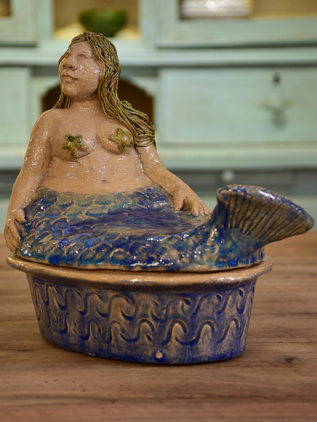 Artisan French baking dish - mermaid
