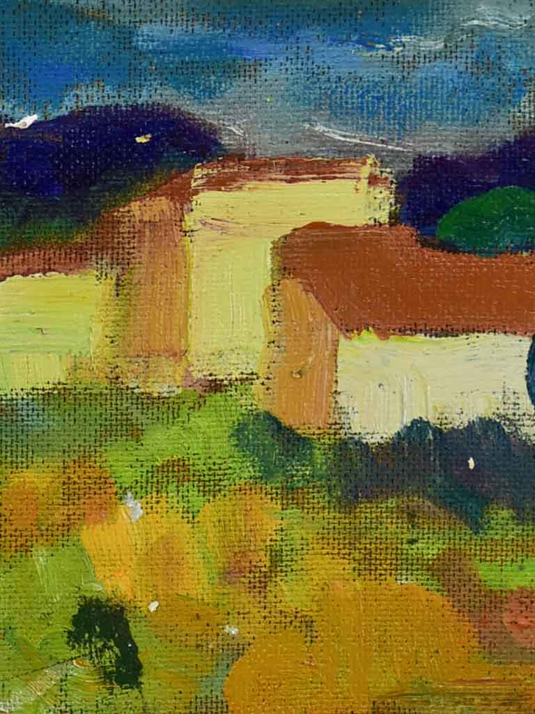 "20th Century oil on canvas - French farmhouse / Provincial Mas - Anna Costa 8"" x 11¾"""