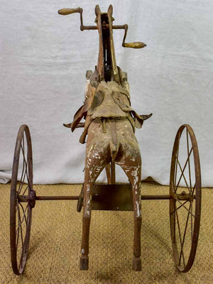 Late 19th Century French toy horse tricycle