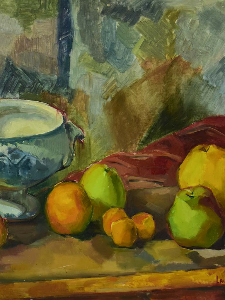 "20th century still life - fruit and a soup tureen - Laure Philip 21¼"" x 25½"""