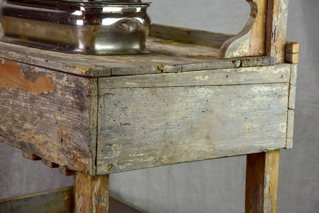 Rustic French florist table from the 1900's