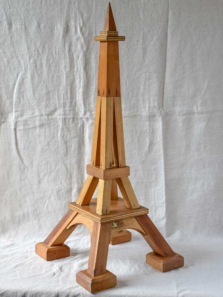 Antique French model of the Eiffel Tower - Apprentice piece 33½""