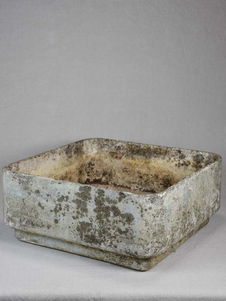 Square vintage Willy Guhl planter 18½""