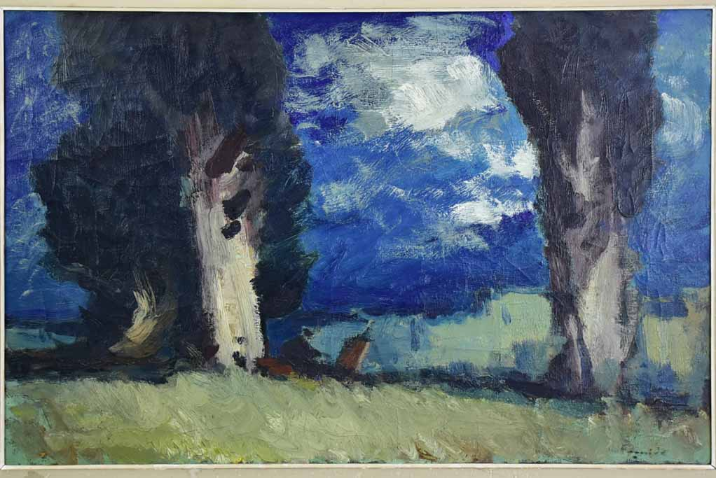 "Landscape painting in Gravesan - Marcel Feguide (1888-1968) 33½"" x 46½"""