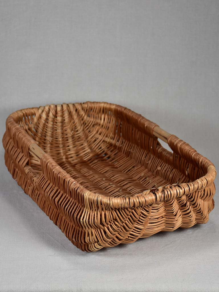 Large antique French bread basket 26""