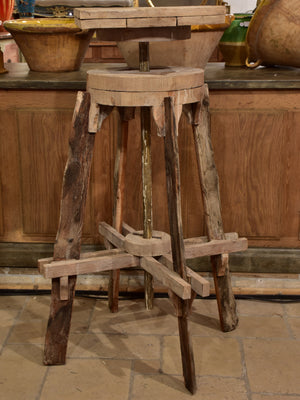 Rustic antique French sculptor's table