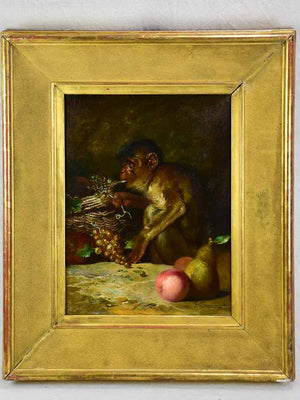 "Still life with monkey - Casimir Raymond (1870-1965) 30¾"" x 37"""