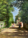 "Country road streetscape - J. Robert (1877) 27¼"" x 31½"""